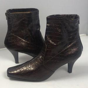 Aerosoles Boots Heels Size 10 Brown Copper New